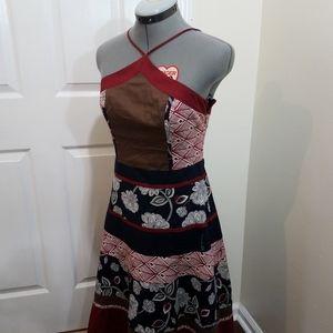 BCBG Maxazria floral azrtec design cotton dress 4